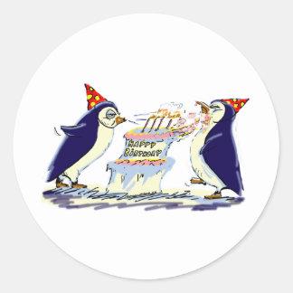PeNgUiN BiRtHdAy Classic Round Sticker