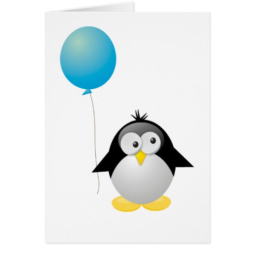 Penguin birthday greeting cards zazzle for Penguin christmas cards homemade