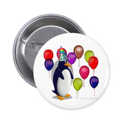 Penguin  Birthday Party 2 Inch Round Button