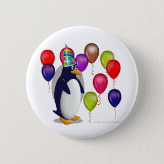 Penguin  Birthday Party Button