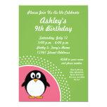 """Penguin Birthday Party Invitation 5"""" X 7"""" Invitation Card"""