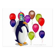 Penguin  Birthday Party Postcard