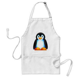 Penguin blue adult apron