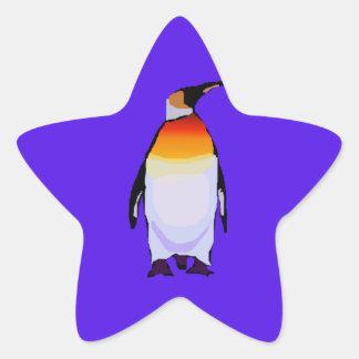 Penguin Blue Star Sticker