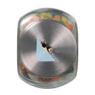 Penguin Body Surfing Glass Jars
