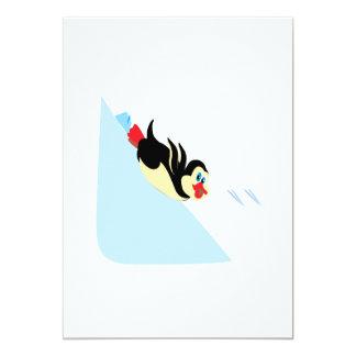 Penguin Body Surfing Card