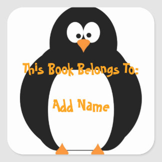 Penguin Bookplate Sticker