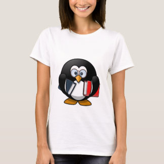 Penguin & Books student teacher reading bookworm T-Shirt