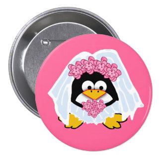 Penguin Bride Button