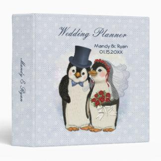 Penguin Bride Groom Custom Wedding Planner Binder