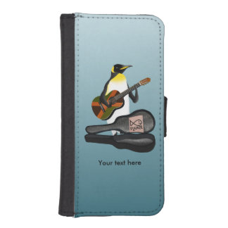 Penguin Busking With Jamaica Flag Guitar Wallet Phone Case For iPhone SE/5/5s