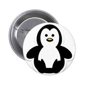 penguin pinback button