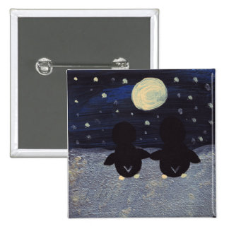 Penguin By Moon Light Button