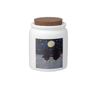 Penguin By Moon Light Candy Dish