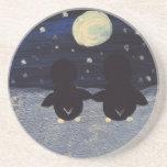 Penguin By Moon Light Coaster