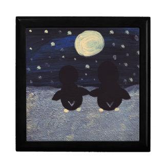 Penguin By Moon Light Trinket Box