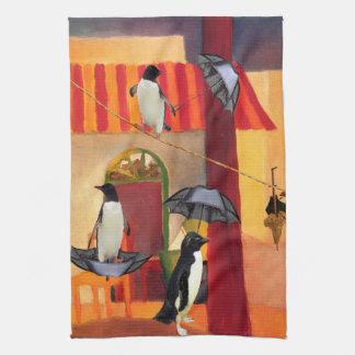 Penguin Cafe Hand Towel