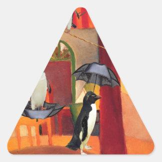 Penguin Cafe Triangle Sticker