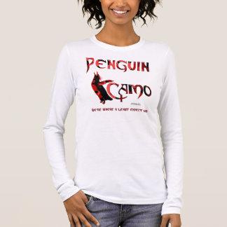 Penguin Camo Ladies Long Sleeve Shirt