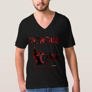 Penguin Camo Men's V-Neck T-Shirt