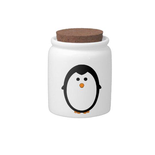 Penguin Candy Jar