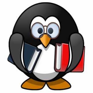Penguin Carrying Books Photo Cut Out