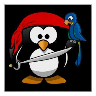 Penguin Cartoon 2014-1002 Poster