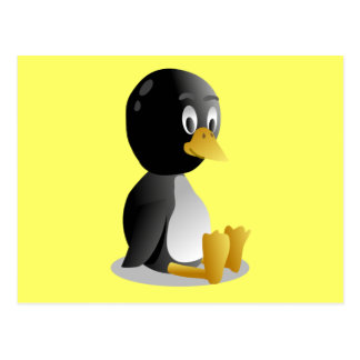Penguin cartoon postcard
