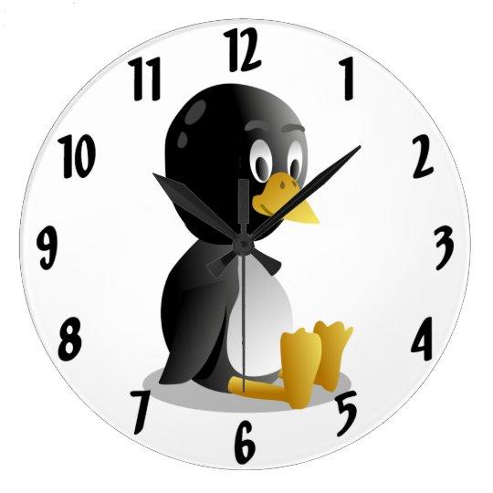 Penguin cartoon Wall Clock