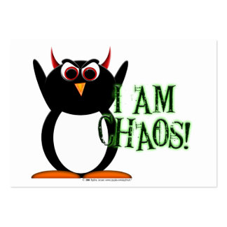 Penguin Chaos Profile Cards Large Business Cards (Pack Of 100)