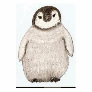 penguin chick photo sculptures