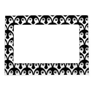 Penguin Chicks Black and White Magnetic Frame