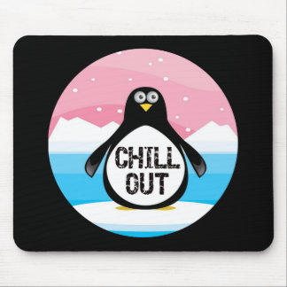 Penguin Chill Out Funny T-shirts Gifts Mouse Mat