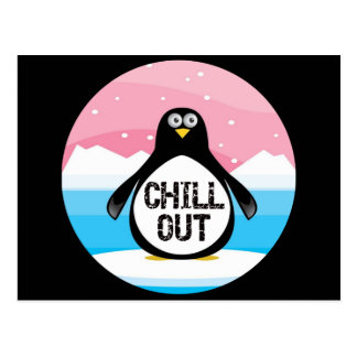 Penguin Chill Out Funny T-shirts Gifts Postcard