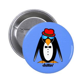penguin chillin' buttons