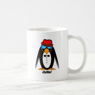 penguin chillin' coffee mug