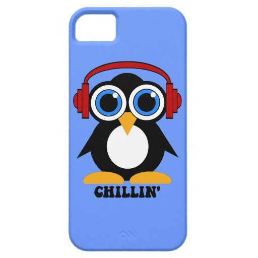 penguin chillin' iPhone 5 covers
