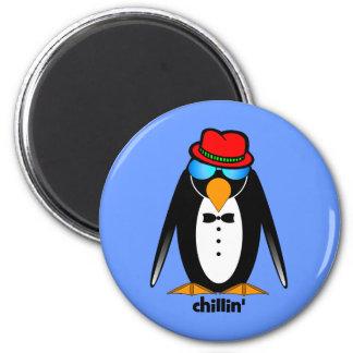 penguin chillin' magnet