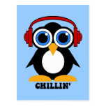 penguin chillin post cards