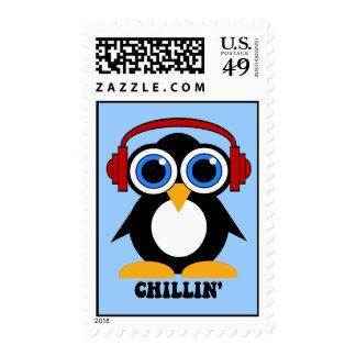 penguin chillin stamp