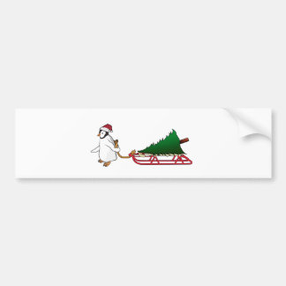 Penguin Christmas Bumper Sticker