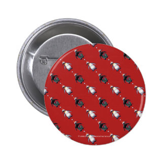 Penguin Christmas 2 Inch Round Button
