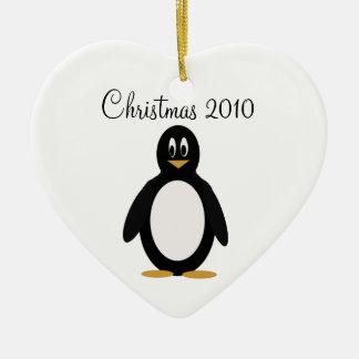 Penguin , Christmas Ceramic Ornament