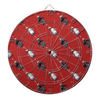 Penguin Christmas Dartboard With Darts