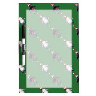 Penguin Christmas Dry Erase Board