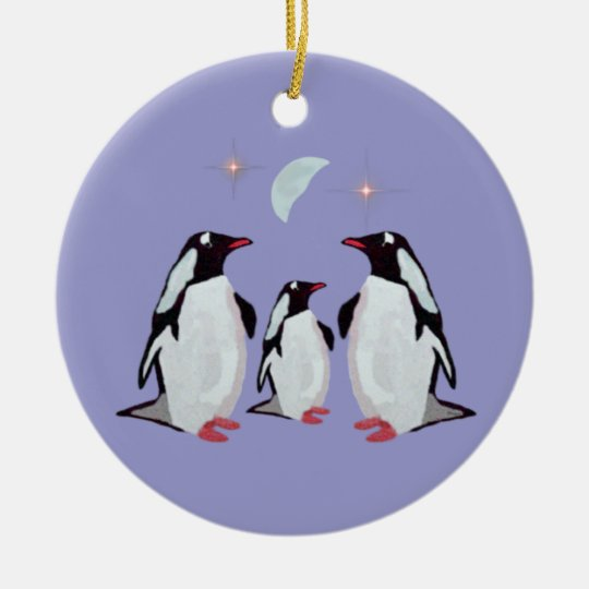 Penguin Christmas Family Ornaments