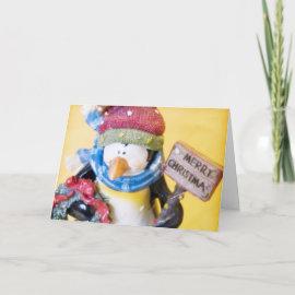 Penguin %u2022 Christmas Greeting Card card