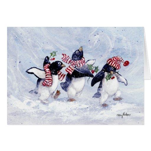 Penguin christmas greeting card zazzle for Penguin christmas cards homemade