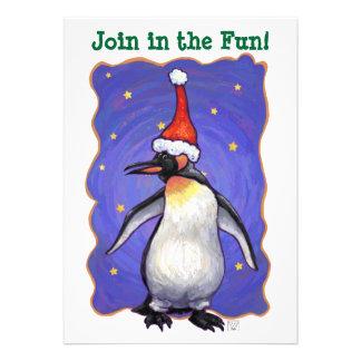 Penguin Christmas Invite