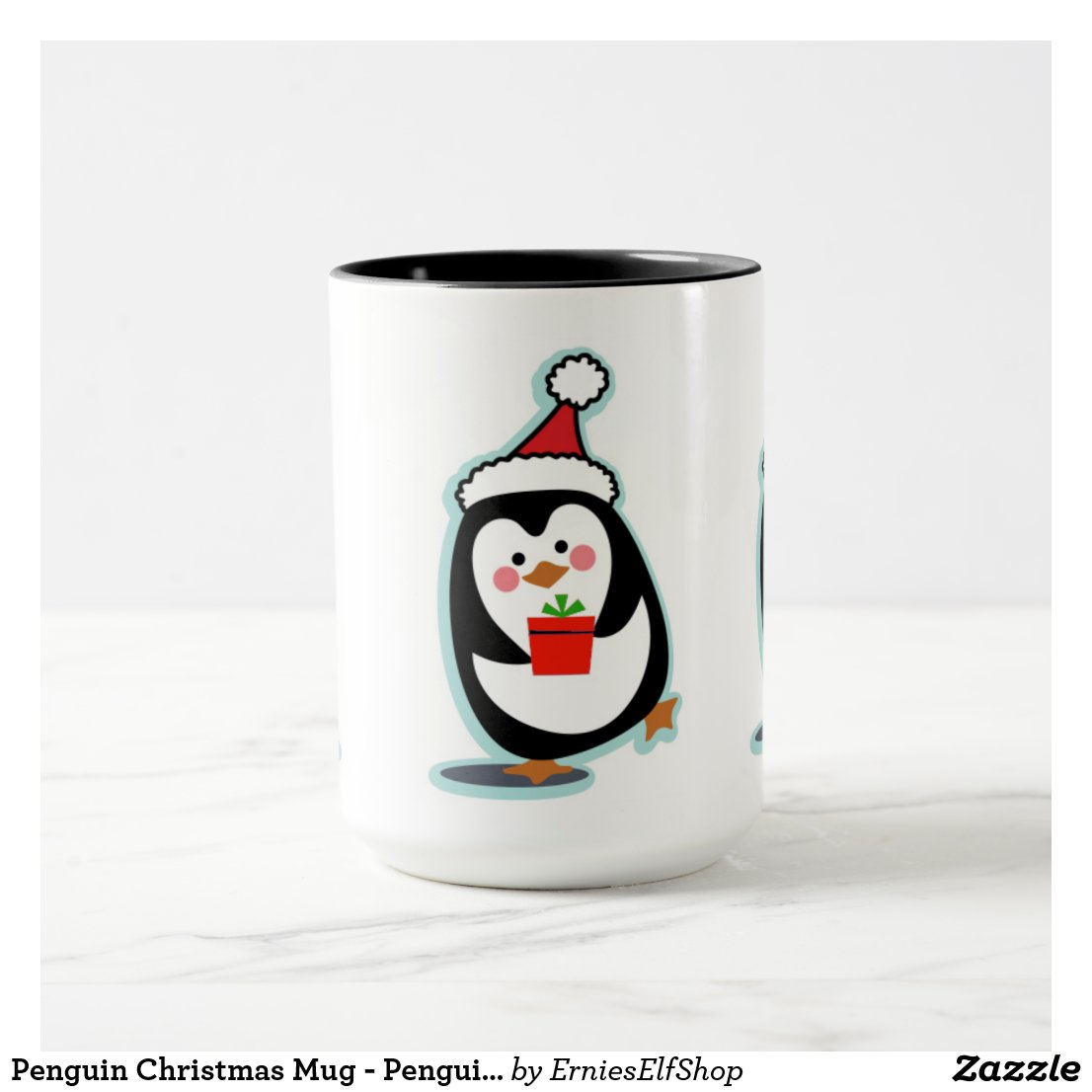 Penguin Christmas Mug - Penguins